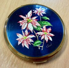 1960s Stratton Powder Compact With Floral Lid