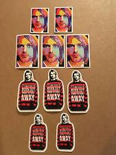 Lot of (10) NIRVANA KURT COBAIN Band Sticker Red Black FAST! FREE SHIP!