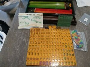 163 Bakelite Mah Jong Tiles & Royal Depth Control Case With 5 Racks 1962-1963