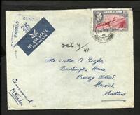BR. GIBRALTAR 1941 CENSOR COVER TO SCOTLAND, NICE