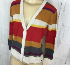 ae0fbf6ca2 BBC 4th Doctor Who Cardigan Striped Button Front Sweater Hot Topic Juniors  Sz XS