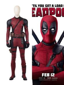 Deadpool 2 Cosplay Costume Deluxe Outfit Halloween Party Prop Uniform Full Set