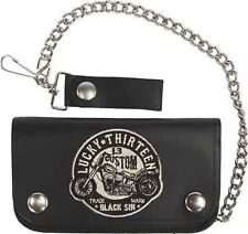 Authentic Lucky 13 Black Sin Skull Chopper Bike Chain Wallet Motorcycle Tattoo