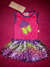 SALE @ DUCK DUCK GOOSE Layette Pink Purple Tulle Skirt Dress Baby 3 6 Mos NEW