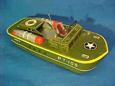 1950s Wwii John F Kennedy Tin Litho Pt109 Toy Boat Made in Japan