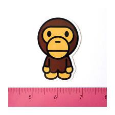 Skateboard Car Bumper Guitar Laptop Vinyl Decal Sticker - Bape Cute Monkey Boy