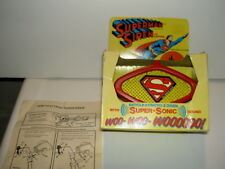 HARD TO FIND EMPIRE TOYS SUPERMAN BICYCLE TRICYCLE SIREN SUPER SONIC HORN IN BOX