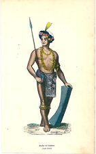 1852 COSTUME TONDANO lithography Minahasa Regency North Sulawesi Indonesia