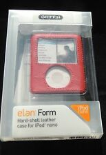 Griffin Elan Form Red Hard Shell Leather Case Cover for Ipod Nano 3rd gen 3G NEW