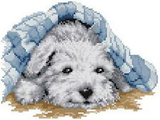 Free S&H 14 counted dog aida Cross stitch animal kit 110w x 84h stitches KG019