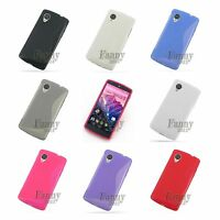 Gel Rubber TPU Silicone Skin Cover Case for LG Google Nexus 5, D821 D820