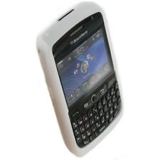 White SILICONE CASE SKIN COVER for Blackberry Curve 8900 tm092