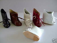 Boots Leather Size 9 (7.2cm) For Doll Ancient Doll Shoes - Shoes