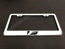 1x F LOGO STAINLESS STEEL LICENSE PLATE FRAME + Screw Caps