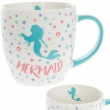 Blue Mermaid Fun Fine China Coffee / Tea Mug / Cup - Gift Boxed Very Cute
