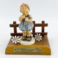 M I Hummel Goebel Porcelain Figurine DAISIES DON'T TELL Germany  Mold 380 W/Base