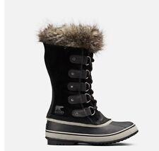 NEW SOREL Joan of Arc Ladies Winter Snow Boots Fur Size 8 Black