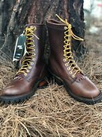 Whites Hathorn Explorer Brown Boots Leather Packer Logger Woodland Mens D Width