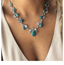 Graduating Coloured Pearl /& Crystal Diamante Floating Illusion Necklace 41DD