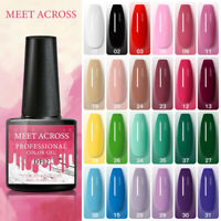 MEET ACROSS Glitter UV Gel Nail Polish Soak Off Christmas Red Green Gel Varnish
