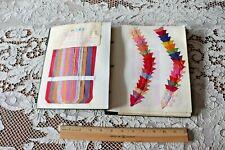 "French Antique c1910-20 Artificial Silk & Metallic Ribbon Sample Book~9.5""X 8.5"""