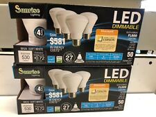 Lots Of 8 Sunrise BR20 LED Dimmable Light Bulb 6w=50w Soft White Top Seal Seller