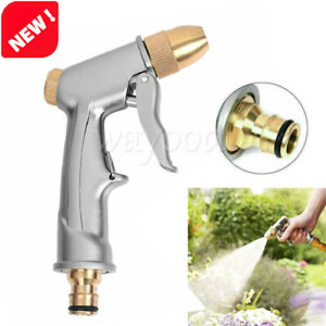 Metal High Pressure Water Spray Gun Brass Nozzle Car Garden Lawn Wash Hose Pipes