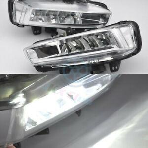 White LED Daytime Day Fog Light DRL j For Land Rover Discovery Sport L550 14-18