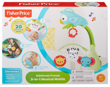 Fisher-Price 3-in-1  Rainforest Friends Musical Mobile Activity Toy Brand New