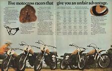1974 Suzuki Motocross Racers - 4-Page Vintage Motorcycle Ad