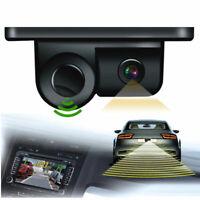 170° Camera w/Parking Sensor Kit Autos Reversing Rearview Backup Parking Camera