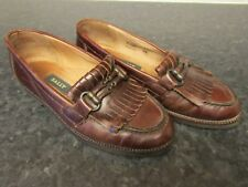 Vintage BALLY womens Brown Leather Loafers flat shoes EU 36 made in Italy