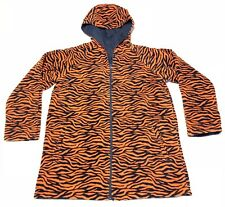 Auburn Tigers Reversible Hooded Jacket Full Zip Women's Size M Blue Tiger Print