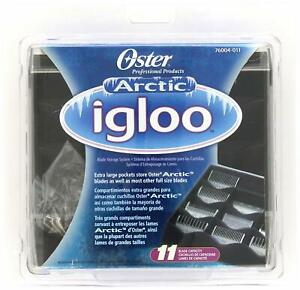 OSTER Arctic Igloo 11 Blades Storage Organizer Case Clipper Trimmer CL-76004-011