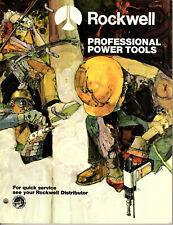 Professional Power Tools 1974 Catalog Rockwelll International Drills Planes Saws