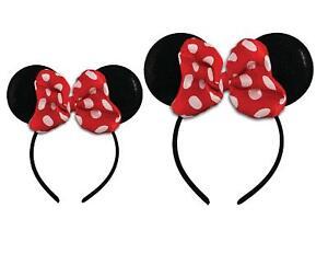 Disney Minnie Mouse Sparkled Ear Shaped Headband with Polka, Multi, Size No Size