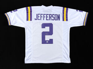 Justin Jefferson Signed LSU Tigers Jersey (JSA COA) Vikings 2020 1st Rnd Pk W.R.