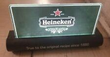Heineken Plastic Light Up Beer Sign Bar Man Cave Decor Works