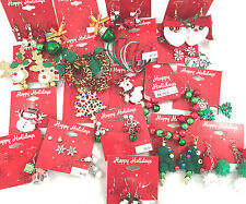 (10) Wholesale Christmas Holiday Earrings Brooches Bracelets Random New & Unused