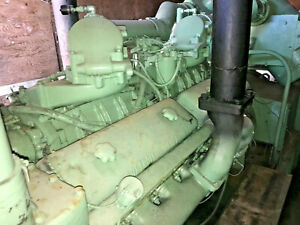 350 kw Detroit diesel 16-v71 radiator cooled engine Delco AC generator 2E5232R2