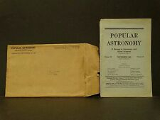 Vintage Dec 1945 Popular Astronomy Allied Science Magazine Book Carleton College