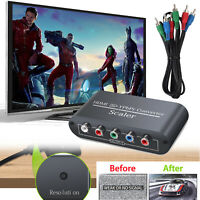 HDMI to 1080P Component Video YPbPr RGB RCA Converter Scaler R/L Audio Output