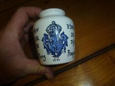 Ancien pot de moutarde Forte au vin blanc, fine de Dijon Poupon de Sarreguemines