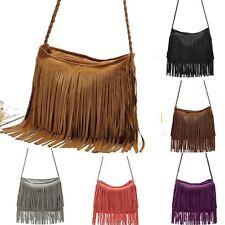 Mode Femme Sac à Main Épaule Messenger Tote Handbag Sac Bandoulière Frange FN