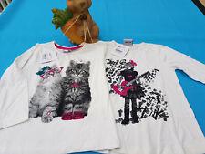 Neu !! 2 x Topolino Katzen langarm Shirt gr 116