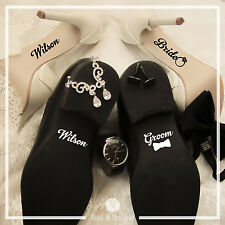 Wedding Shoes Decal Set - Your Name Bride And Groom - Wedding Shoes Stickers