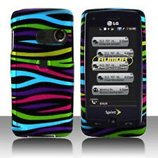 Colorful Zebra Hard Case Cover LG Banter Touch UN510 Rumor Touch LN510