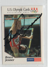 Bruce Jenner 1991 Impel Marketing certified autographed card