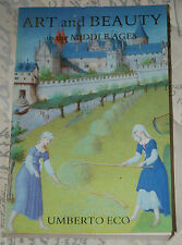 Art and Beauty in the Middle Ages - Umberto Eco p/b Yale University Press, 1986