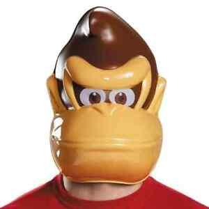Donkey Kong Mask Nintendo Mario Brothers Fancy Dress Halloween Costume Accessory